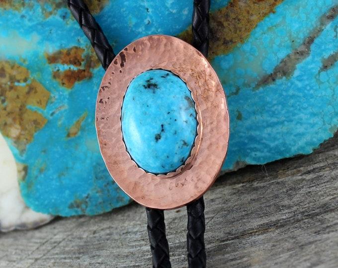 Western Bolo Tie -Turquoise Bolo Tie -Cowboy Bolo Tie -Copper Bolo Tie - Bolo Ties