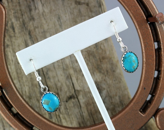Silver Earrings- Blue Turquoise -Statement Earrings -Drop Earrings -Boho Earrings -Blue Stone Earrings - Dangle Earrings - Stone Earrings