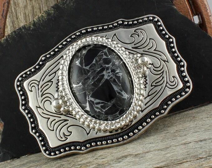 Obsidian Belt Buckle - Western Belt Buckle - Cowboy Belt Buckle - Boho Belt Buckle