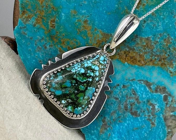 Kingman Turquoise Pendant - Sterling Silver Pendant - Kingman Turquoise Necklace