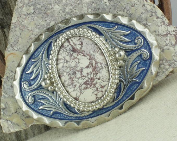 Natural Viper Jasper Belt Buckle -Western Belt Buckle -Cowboy Belt Buckle - Boho Belt Buckle