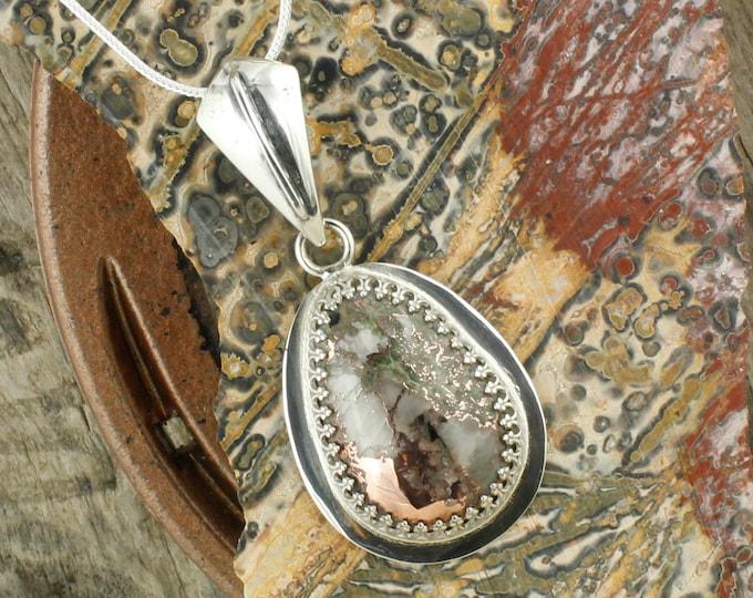 Natural Native Copper Pendant - Sterling Silver Pendant Necklace - Native Copper Necklace