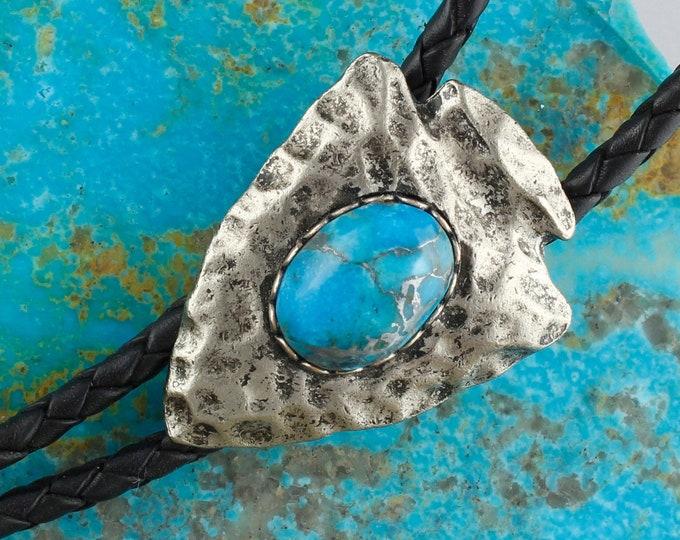 Turquoise Bolo Tie - Western Bolo Tie - Cowboy Bolo Tie -Arrowhead Bolo Tie Necklace