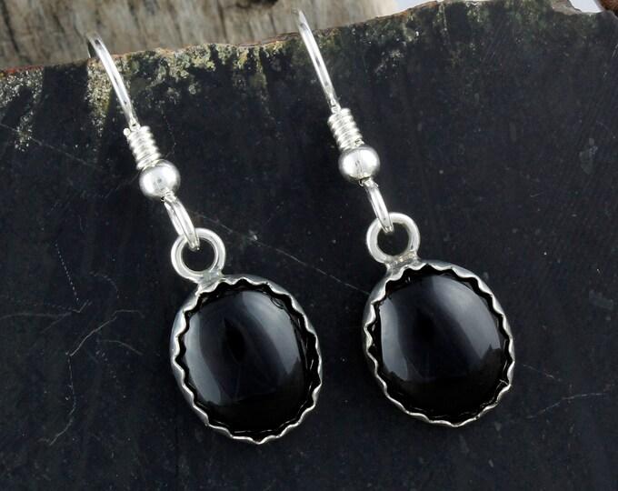 Black Onyx Earrings - Silver Earrings - Dangle Earrings -Onyx Drop Earrings - Statement Earrings