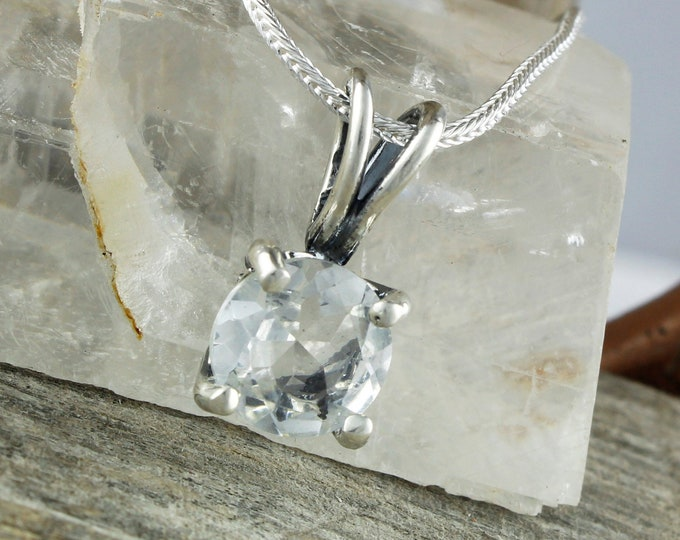 Natural Quartz Pendant - Sterling Silver Pendant - Natural Quartz Necklace - Pendant Necklace