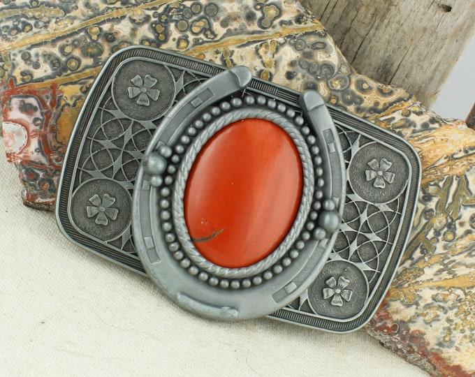 Natural Red Jasper Belt Buckle - Western Belt Buckle - Cowboy Belt Buckle - Boho Belt Buckle