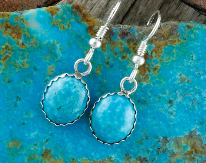 Turquoise Earrings - Silver Earrings - Turquoise Dangles - Turquoise Drops - Statement Earrings