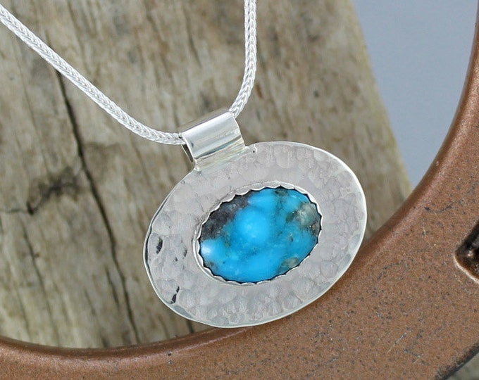 Silver Pendant - Turquoise Pendant - Turquoise  Necklace - Silver Necklace - Statement Pendant - Pendant Necklace - Wedding Pendant