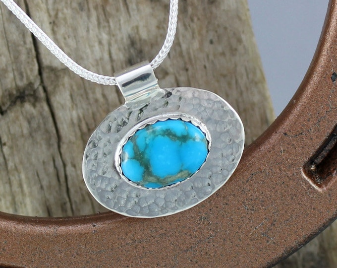 Silver Pendant - Turquoise Pendant - Turquoise Necklace - Silver  Pendant - Silver Necklace - Pendant Necklace - Statement Pendant