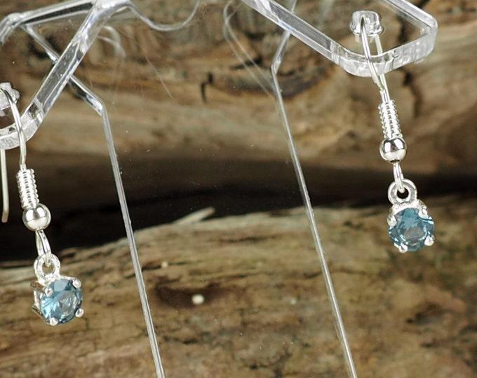 London Blue Topaz -Blue Topaz Earrings -Statement Earrings -Dangle Earrings -Silver Earrings -Drop Earring -Blue Gemstone -Gemstone Earrings