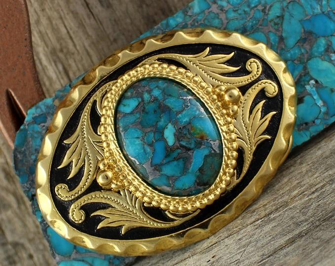 Belt Buckle - Western Belt Buckle - Turquoise Buckle - Cowboy Belt Buckle - Boho Belt Buckle - Western Buckle - Cowgirl Belt Buckle