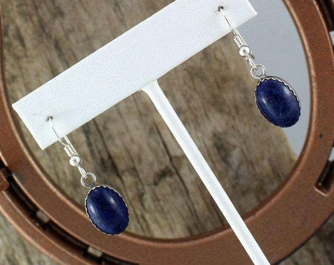Silver Earrings-Blue Lapis Lazuli-Drop Earrings-Statement Earrings -Dangle Earrings -Boho Earrings -Blue Stone Earrings -Drop Earrings