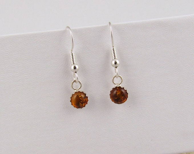 Silver Earrings -Baltic Amber-Dangle Earrings -Statement Earrings-Boho Earrings-Drop Earrings-Amber Earrings-Amber Stone Earrings