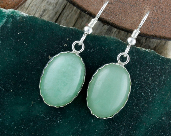Aventurine Earrings -Silver Earrings - Dangle Earrings -Aventurine Dangles - Statement Earrings