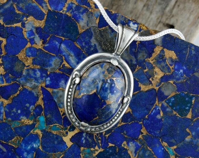 Lapis Lazuli Pendant - Lapis Lazuli Necklace - Statement Pendant - Pendant Necklace
