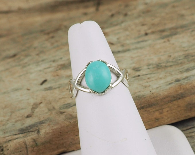 Sterling Silver Ring - Turquoise Ring - Promise - Friendship Ring -  Everyday Ring with Turquoise