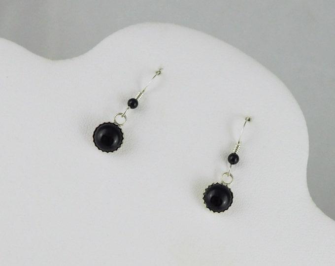 Silver Earrings -Black Onyx Earrings -Onyx Earrings-Boho Earrings -  Black Stone Earrings-Statement Earrings - Dangle Earrings