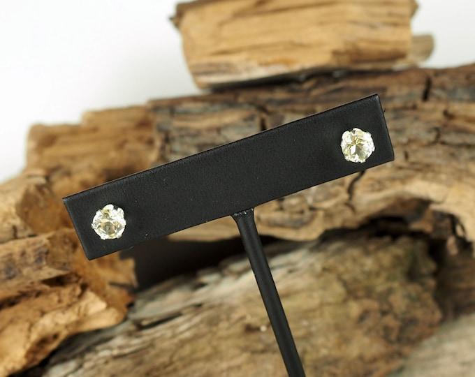 Silver Earrings -Lemon Quartz  -Boho Earrings -Statement Earrings - Gemstone Earrings -Stud Earrings  - Studs -Lemon Quartz Studs