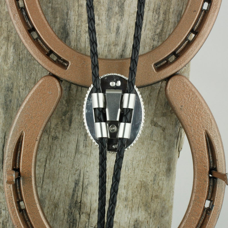 Kingman Turquoise Bolo Tie Sterling Silver Bolo Tie Western Bolo Tie Cowboy Bolo Tie Necklace
