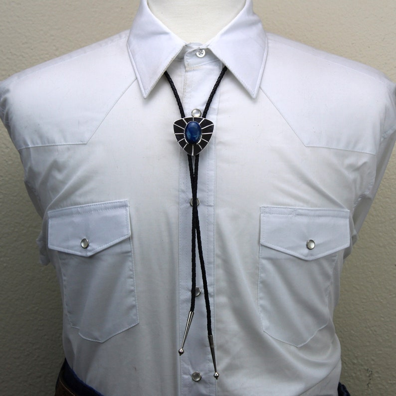 Silver Bolo Tie Bolo Tie Western Bolo Tie -Shattuckite Bolo Tie -Cowboy Bolo Tie Bolo Tie Necklace Western Tie Statement Bolo Tie