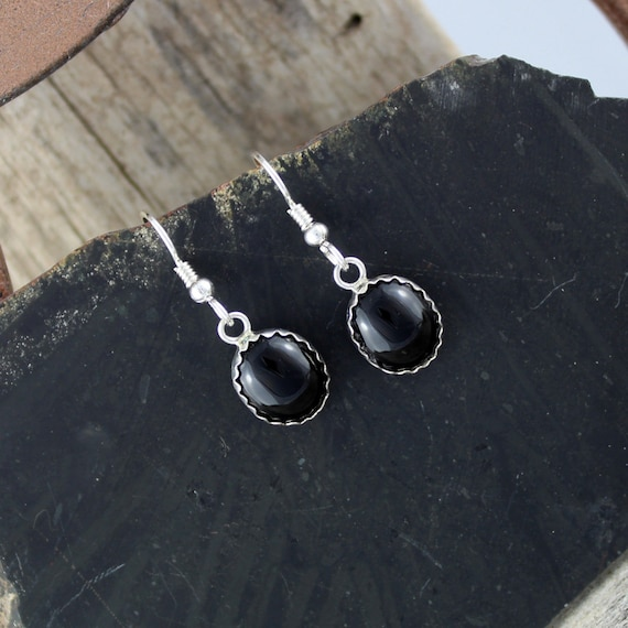e3e68816629c Black Onyx Earrings-Silver Earrings-Dangle Earrings-Drop   Etsy