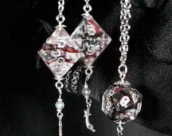 Pink & Black Dice Jewelry Set
