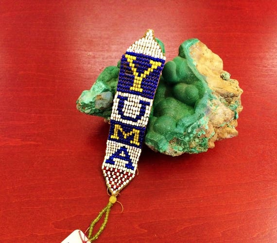 125.00 AnTIQUE YUMA BEADED WaTCH FOB, YuMa TERRITO