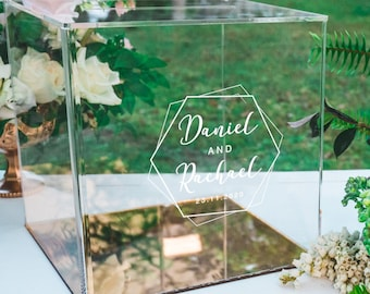 Premium Gold, Silver, Rose Gold or Clear Acrylic Wishing Well Wedding Box with or without latch kit.