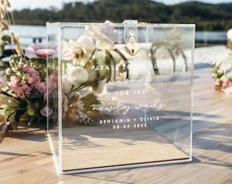 Premium Wooden Base Clear Acrylic Wedding Wishing Well
