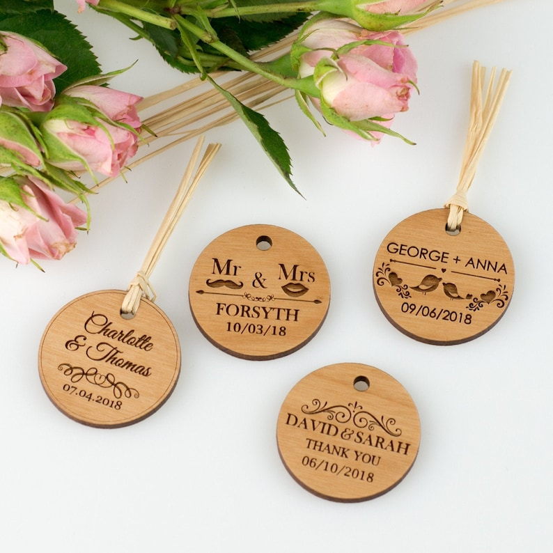 30-150 Wedding Wooden Gift Tag Favours