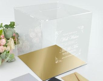 1x Acrylic Wishing Well Wedding Box