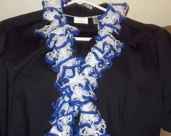 Beautiful hand knit frill scarf
