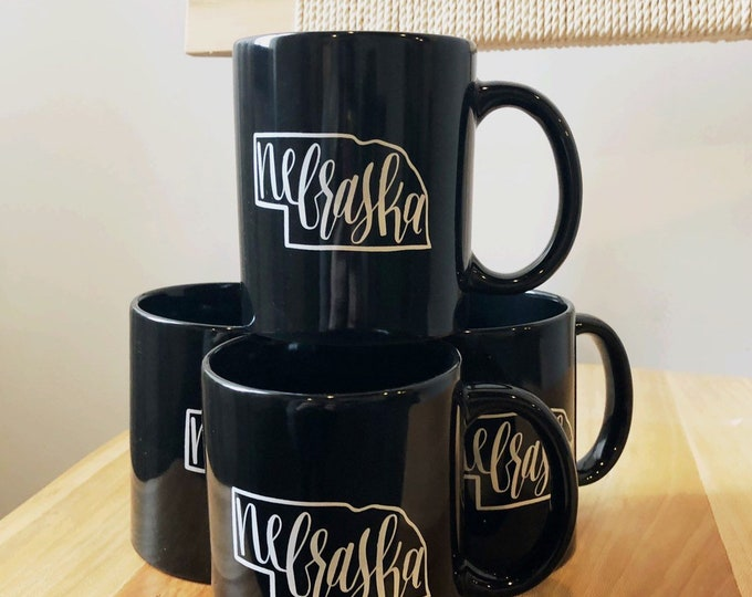 Featured listing image: Nebraska coffee mug | black 11 oz. coffee cup