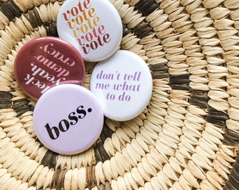 Boss pin set | Gift-worthy | Ready to ship