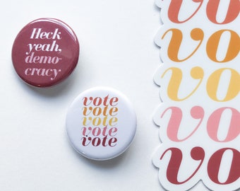 Vote pin set | Gift-worthy | Ready to ship