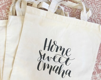 Home Sweet Omaha tote bag