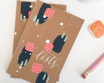 """Lists mini journal 