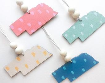 Bold & Bright Nebraska Ornaments | 6 Color Options