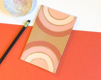 "Sunset mini journal | Hand-painted 3.5"" x 5.5"" notebook  