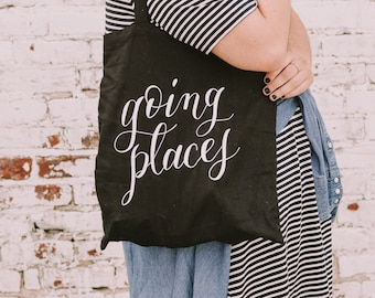 Going Places tote bag | market tote | Reusable bag