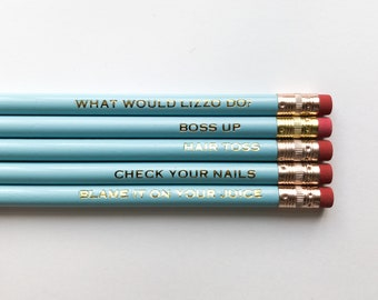What Would Lizzo Do? pencil set
