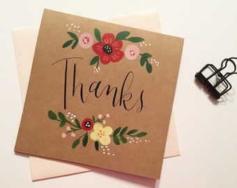 Thanks card | Hand-painted card | READY TO SHIP