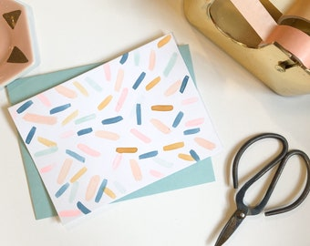 Happy Confetti notecards | Set of 4 cards