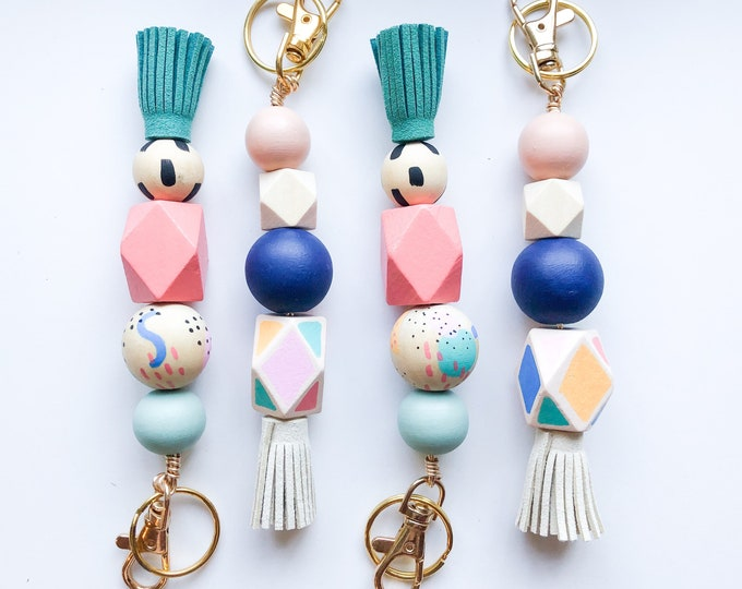 Featured listing image: Prism keychain with Tassel & Clip