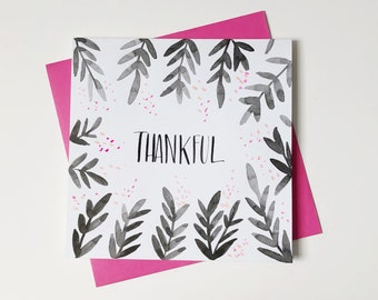 Thankful watercolor card