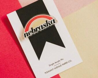 Nebraska Acrylic Pin