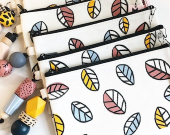 Falling Leaves hand-painted pencil case