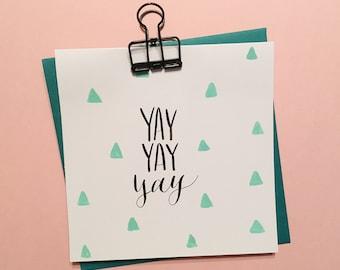 Yay Yay Yay card