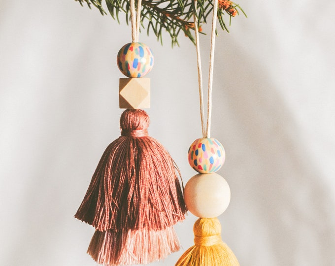 Featured listing image: Whimsical Tassel Ornament