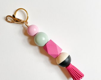 Cheer Squad keychain with Tassel & Clip